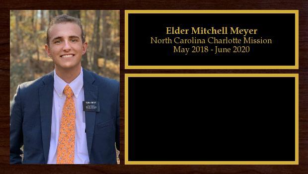 May 2018 to June 2020<br/>Elder Mitchell Meyer