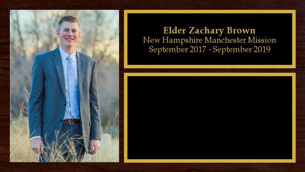 September 2017 to September 2019<br/>Elder Zachary Brown