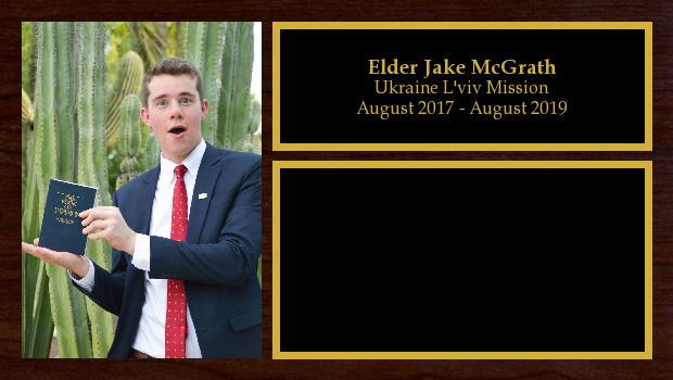 August 2017 to August 2019<br/>Elder Jake McGrath