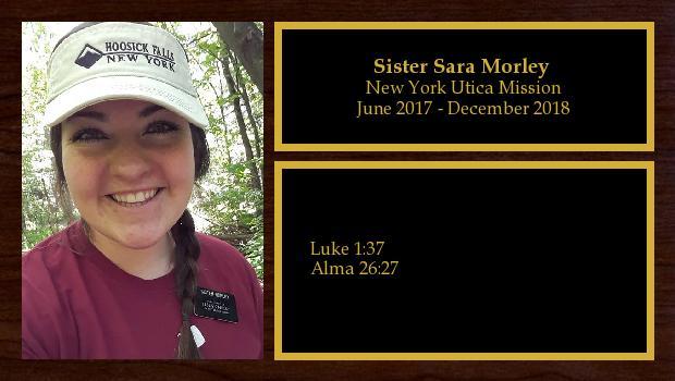 June 2017 to December 2018<br/>Sister Sara Morley