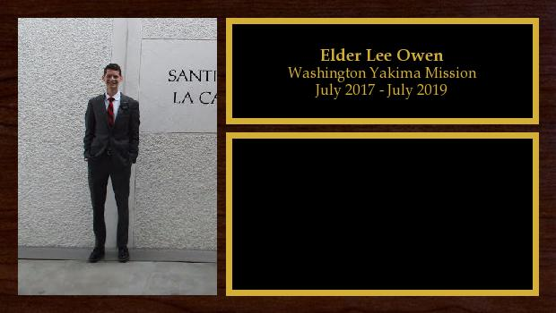 July 2017 to July 2019<br/>Elder Lee Owen