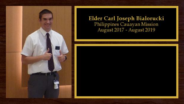 August 2017 to August 2019<br/>Elder Carl Joseph Bialorucki