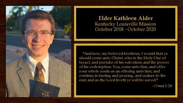 October 2018 to October 2020<br/>Elder Brandon Alder