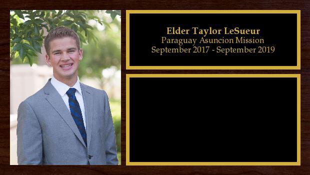 September 2017 to September 2019<br/>Elder Taylor LeSueur