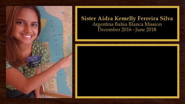 December 2016 to June 2018<br/>Sister Aidra Kemelly Ferreira Silva