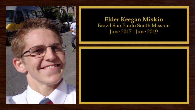 June 2017 to June 2019<br/>Elder Keegan Miskin