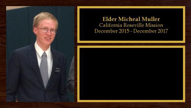December 2015 to December 2017<br/>Elder Micheal Muller