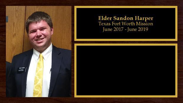June 2017 to June 2019<br/>Elder Sandon Harper