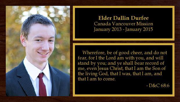 January 2013 to January 2015<br/>Elder Dallin Durfee