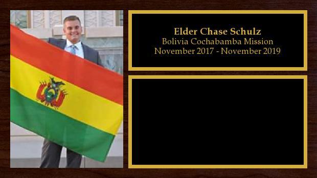 November 2017 to October 2019<br/>Elder Chase Schulz