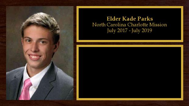 July 2017 to July 2019<br/>Elder Kade Parks