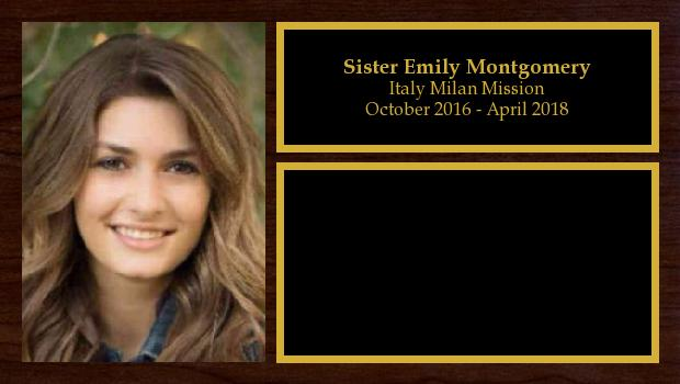 October 2016 to April 2018<br/>Sister Emily Montgomery