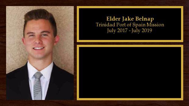 July 2017 to July 2019<br/>Elder Jake Belnap