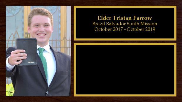 October 2017 to October 2019<br/>Elder Tristan Farrow