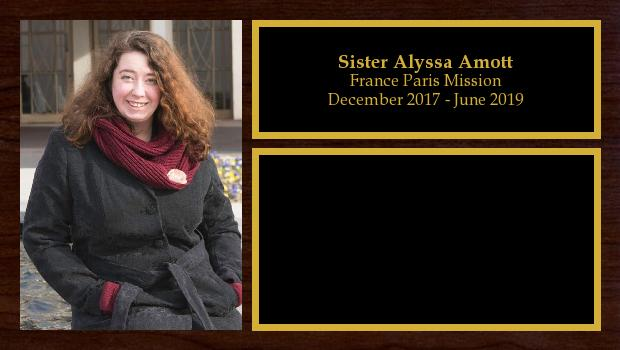 December 2017 to June 2019<br/>Sister Alyssa Amott