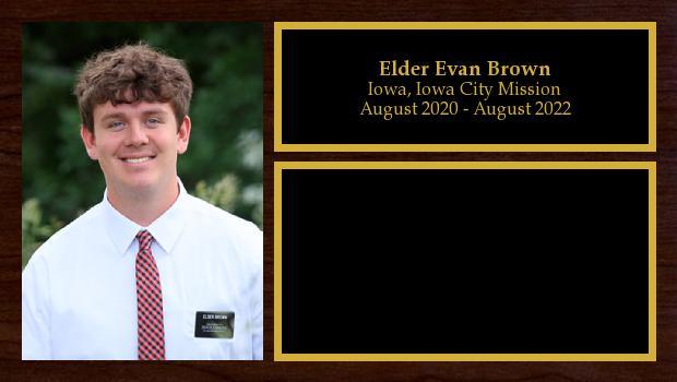 August 2020 to August 2022<br/>Elder Evan Brown