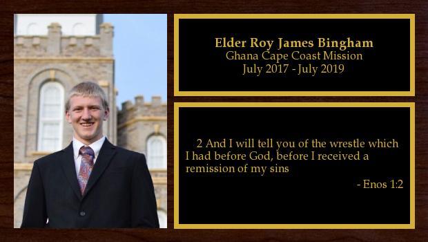 July 2017 to June 2019<br/>Elder Roy James Bingham