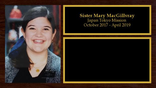 October 2017 to April 2019<br/>Sister Mary MacGillvray