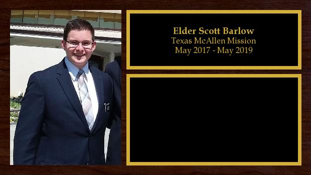 May 2017 to April 2019<br/>Elder Scott Barlow