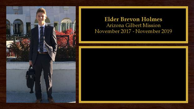 November 2017 to November 2019<br/>Elder Brevon Holmes