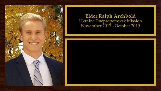 November 2017 to October 2019<br/>Elder Ralph Archbold