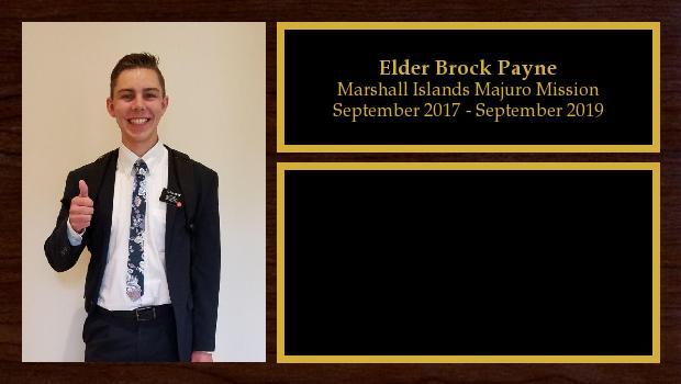 September 2017 to September 2019<br/>Elder Brock Payne