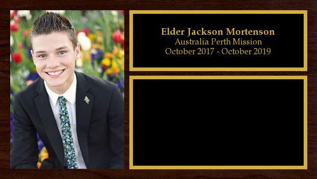 October 2017 to October 2019<br/>Elder Jackson Mortenson