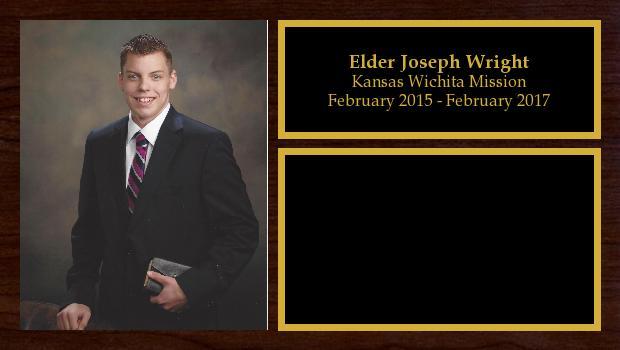 February 2015 to February 2017<br/>Elder Joseph Wright