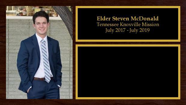 July 2017 to July 2019<br/>Elder Steven McDonald