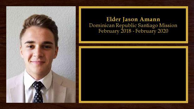 January 2018 to December 2019<br/>Elder Jason Amann