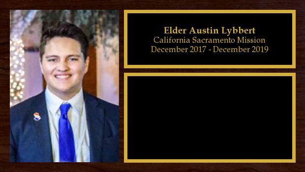 December 2017 to December 2019<br/>Elder Austin Lybbert