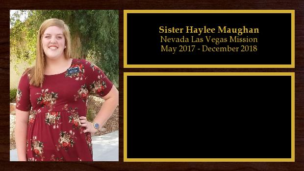 May 2017 to December 2018<br/>Sister Haylee Maughan