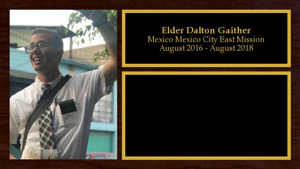 August 2016 to August 2018<br/>Elder Dalton Gaither