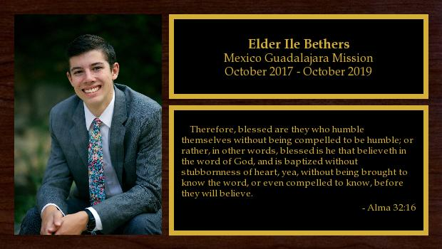 October 2017 to October 2019<br/>Elder Ile Bethers