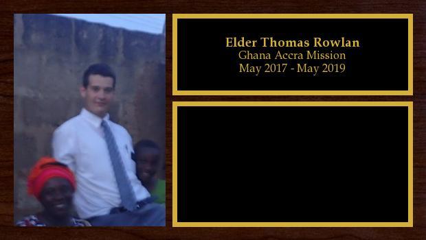 May 2017 to May 2019<br/>Elder Thomas Rowlan