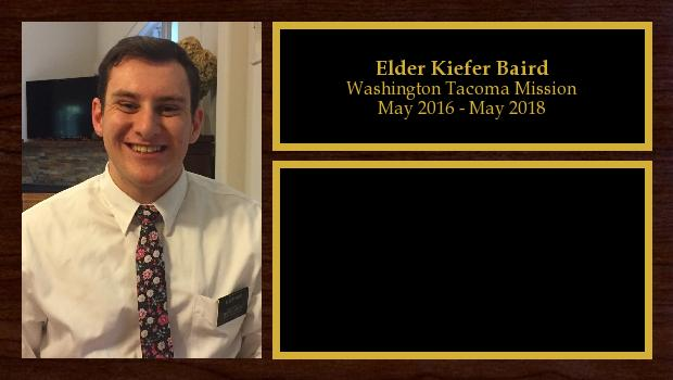 May 2016 to May 2018<br/>Elder Kiefer Baird