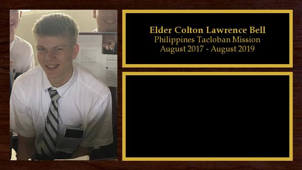 August 2017 to August 2019<br/>Elder Colton Lawrence Bell