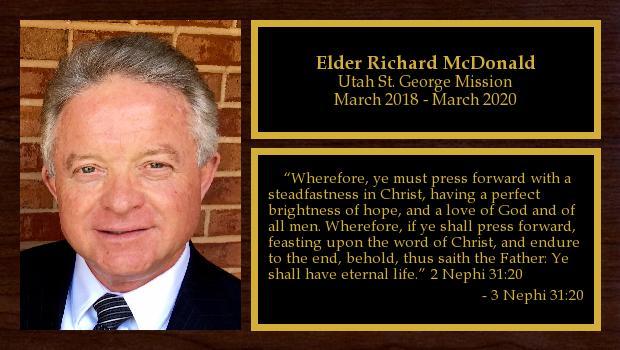 March 2018 to March 2020<br/>Elder Richard McDonald