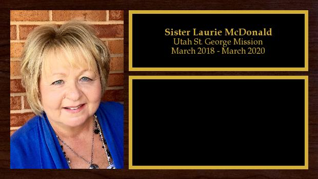 March 2018 to March 2020<br/>Sister Laurie McDonald