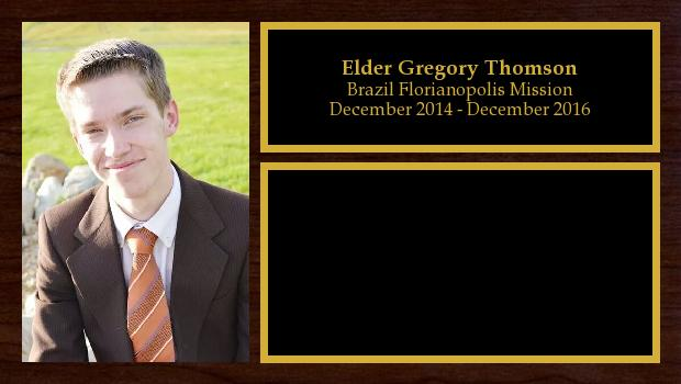 December 2014 to December 2016<br/>Elder Gregory Thomson
