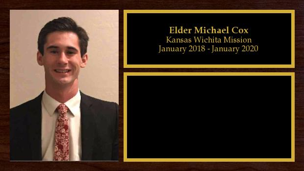 January 2018 to January 2020<br/>Elder Michael Cox