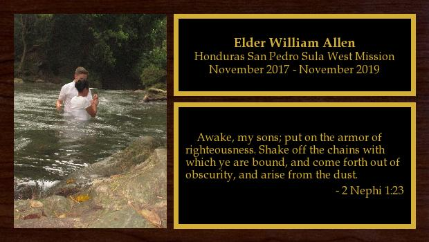 November 2017 to November 2019<br/>Elder William Allen