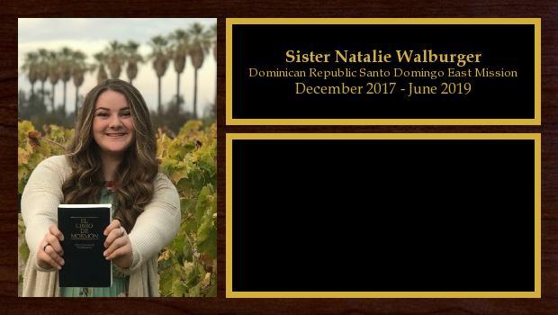 December 2017 to June 2019<br/>Sister Natalie Walburger