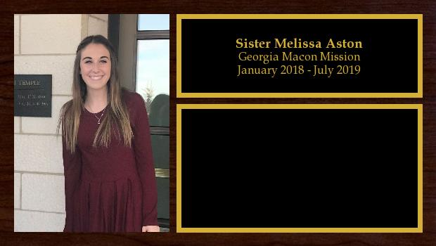 January 2018 to July 2019<br/>Sister Melissa Aston