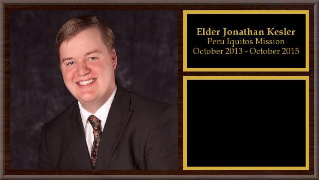 October 2013 to October 2015<br/>Elder Jonathan Kesler