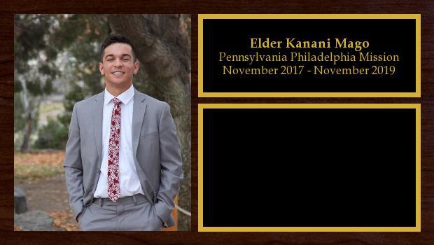 November 2017 to November 2019<br/>Elder Kanani Mago