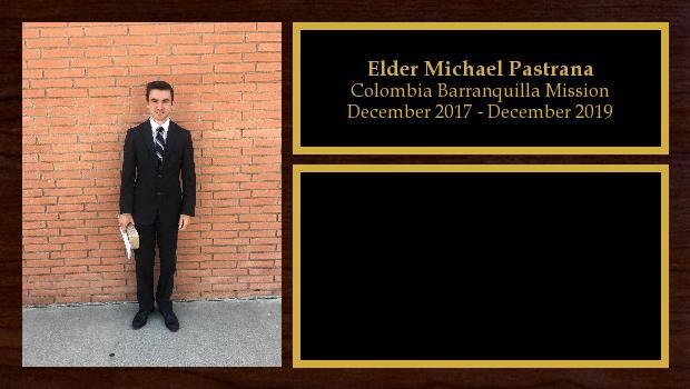 December 2017 to December 2019<br/>Elder Michael Pastrana
