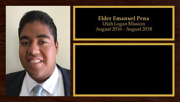 August 2016 to August 2018<br/>Elder Emanuel Pena