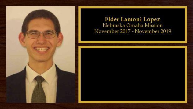 November 2017 to November 2019<br/>Elder Lamoni Lopez