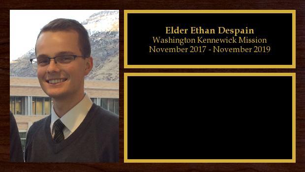November 2017 to November 2019<br/>Elder Ethan Despain